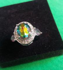 Dugin Topazni mistični prsten 925