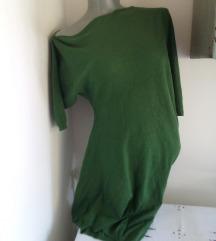 OLLA zelena neravna dzemper tunika  S/M