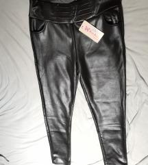 Pantalone, imitacija kože, postavljene