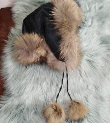 Ruska kapa subara prirodno krzno rakuna