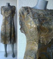 haljina za leto svilena šivena po meri br 38