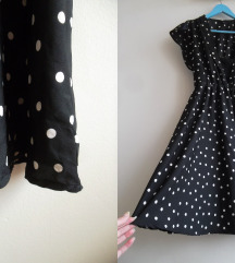 H&M haljina na tufne sa cipkom, XS/S/M
