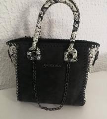 Crno bela zmijska torba pandora NOVO