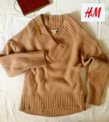 FANTASTIČAN VUNENI DŽEMPER- H&M nežno roze boje