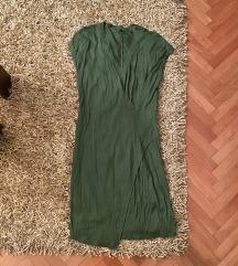Benetton original ženska maslinasta haljina