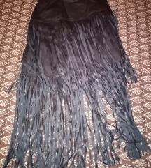 Kožna suknja s resama