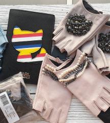 KARL LAGERFELD kožne rukavice  ORIGINAL novo