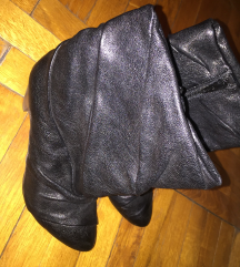 Novo! Crne kožne čizme