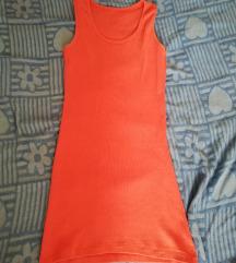Pamucna haljina boje kajsije