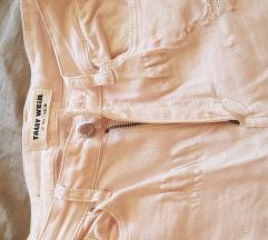 Ženske svetlo roze pantalone