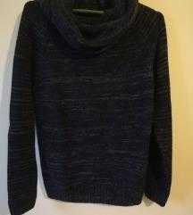 Džemper vuneni teget sivi