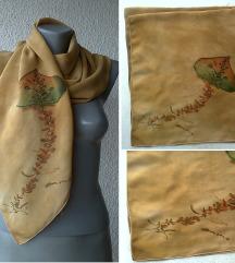 marama svilena boje senfa 83x80 cm