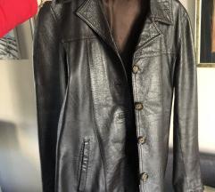 PRAVA KOZA, zenska braon jakna, kao nova