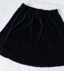 VERO MODA suknja od rebrastog plisa M