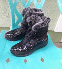 GEOX kozne crne tople čizme NOVE