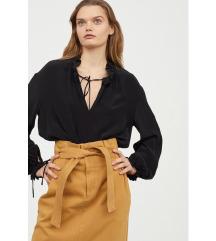 H&M boho bluza crna XL