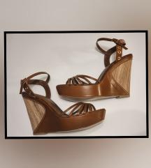 Kožne sandale na platformu