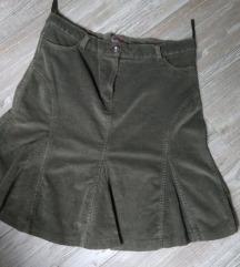 Maslinasto zelena suknja, vel. 42