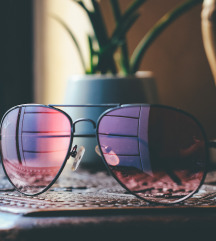 Roze pilotske naocare za sunce