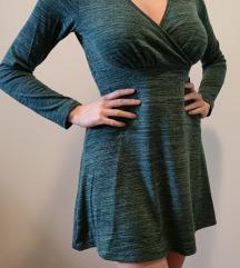 Pamucna zelena haljinica