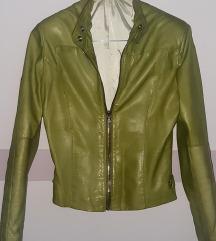 Zelena kožna jakna, prava koža SNIZENO