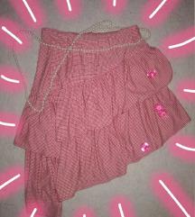 roze suknja