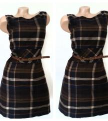 s*oliver    karo haljina    odlicna 36/38