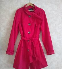 BONPRIX meksicko crveni mantil sa pojasom