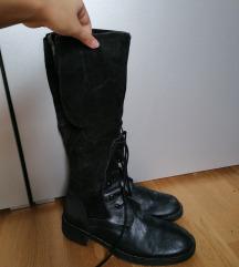 Crne kožne čizme 41 42