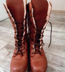 COOLWAY Kozne duboke braon cipele cizme