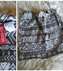 H&M Divided Aztek suknjica S