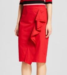 Crvena letnja suknja USA 42 velicina