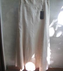lanena bež suknja