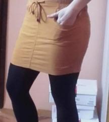Mini somot suknja