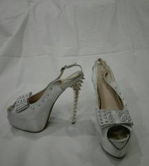 srebrne eletantne cipele