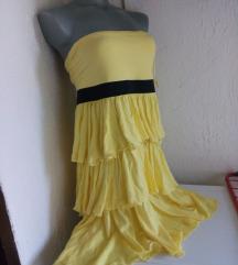 Nova FishBone zuta haljina L