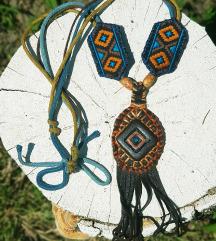 Kozna ogrlica Rhea (Prirodna koza)