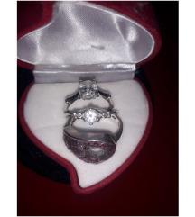 3 prstena srebrna