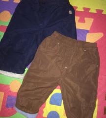 Dvoje kvalitetnih TERMO pantalona vel 74/80