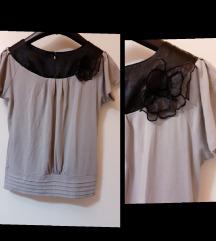 Prelepa bluza sivo-crna