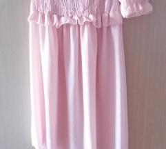 Roze lepršava haljina