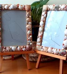 Ramovi dekorisani školjkama, sa postoljem, novi