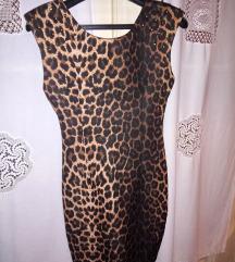 Atraktivna leopard print haljina sa nitnama, nova