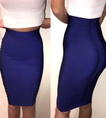 Herve Leger royal plava pencil suknja (XS/S)