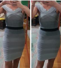HERVE LEGER siva prelepa haljina