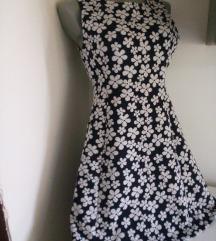 Divided beli cvetovi haljina 42/M