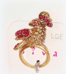 DIVA prsten sa rajskom pticom (kutija gratis)