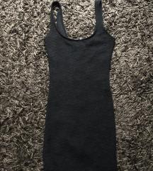Mini uska crna haljina - Bershka