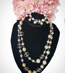 Chanel ogrlica i narukvica, komplet