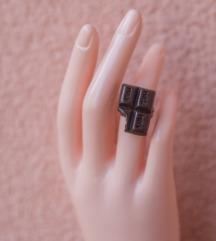 Podesivi prsten - zagrižena mlečna čokolada
